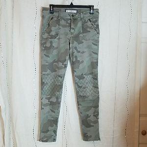 Womens Abercrombie & Fitch Camo Moto Skinny Jeans